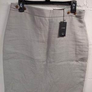 J Crew Linen skirt NWT